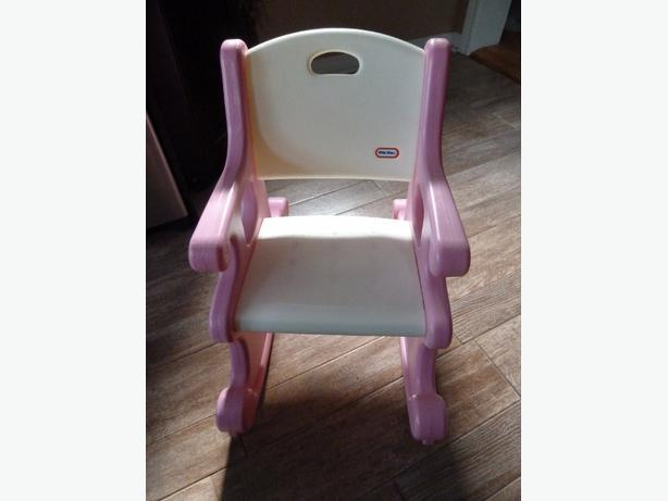 Little Tikes Rocking Chair Pink and White