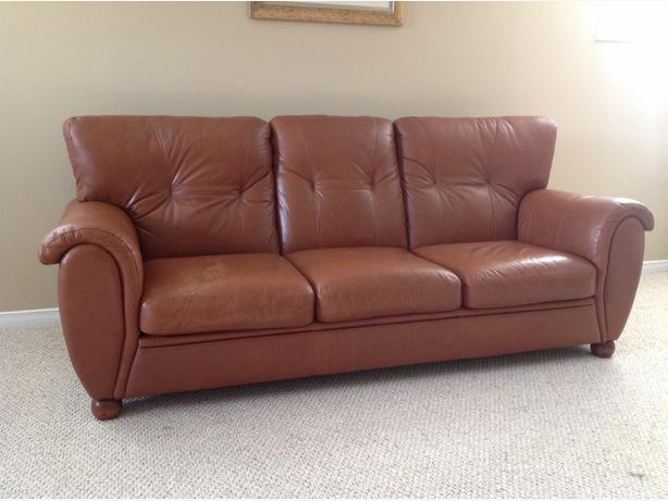 Leather Sofa And Chair Osgoode Gatineau
