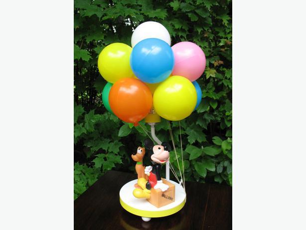 Collectible Disney Balloon Lamp (Mickey & Pluto)