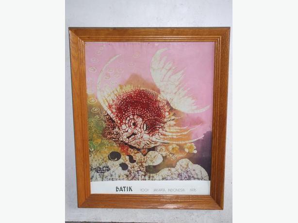 Silkscreen Batik - Framed-1976- $20.