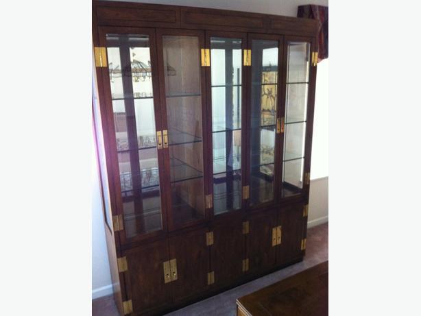 classic henredon china cabinet langley, vancouver
