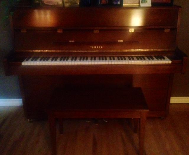 Beautiful upright yamaha piano south regina regina mobile for Yamaha piano store winnipeg
