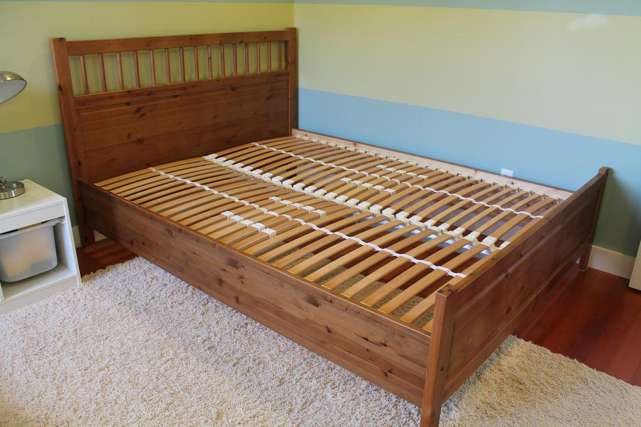 Queen Size Ikea Hemnes Antique Stain Bed Frame Outside Victoria, Victoria