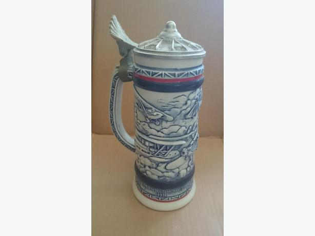 "1982 Avon ""History of Aviation"" beer mug"