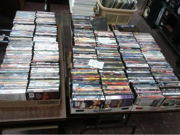 Over 800 DVDs