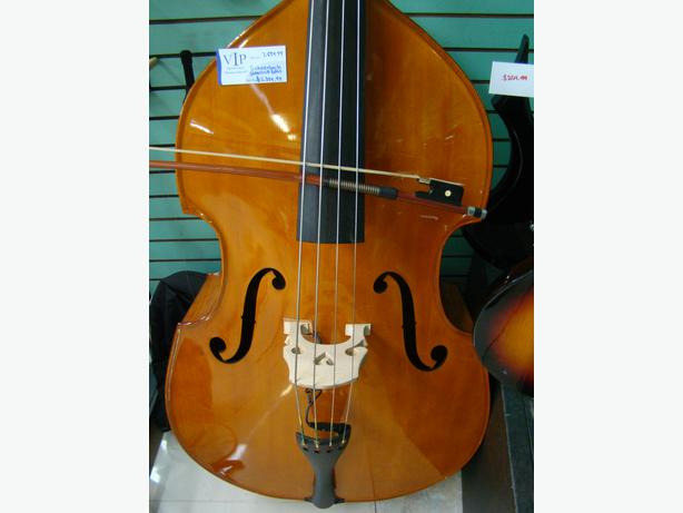schoenbach 3 4 stand up bass with bow and pickup for sale lowered central nanaimo parksville. Black Bedroom Furniture Sets. Home Design Ideas