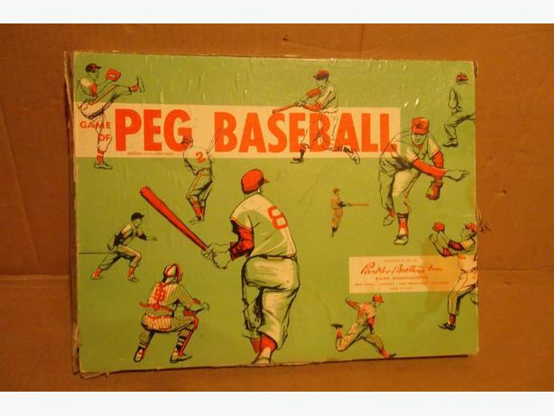 "1957 Parker Brothers ""Game of Peg Baseball"" board game"