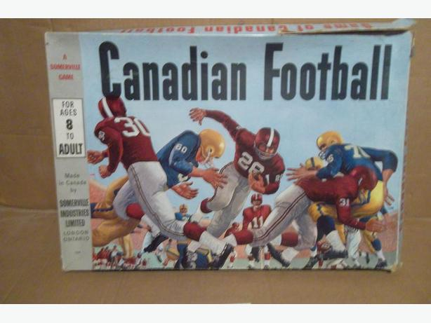 "1960's ""Canadian Football"" board game"