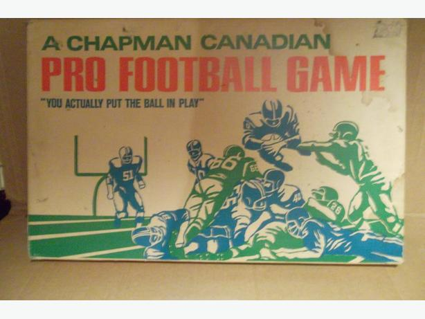 "1969 Chapman ""Canadian Pro Football Game"""