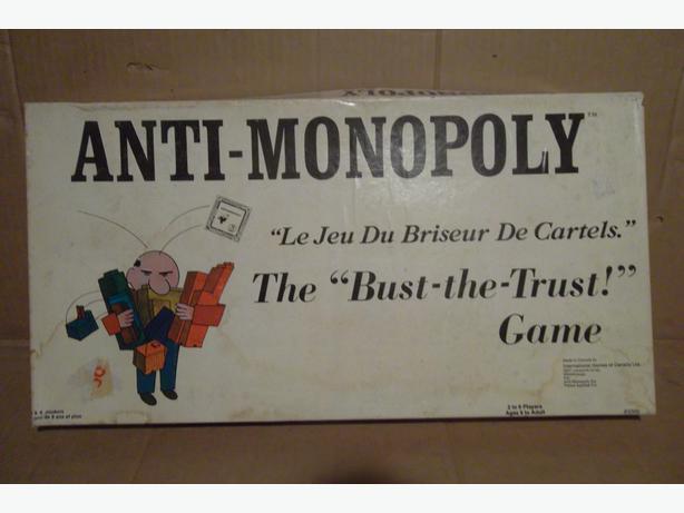 """Anti-Monopoly"" board game"