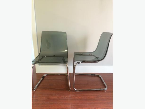 ikea tobias transparent grey chairs downtown toronto toronto. Black Bedroom Furniture Sets. Home Design Ideas