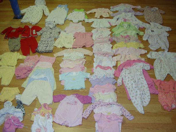Complete Lot of 80 Piece Clothing Size 0-3 Months $100 for all!