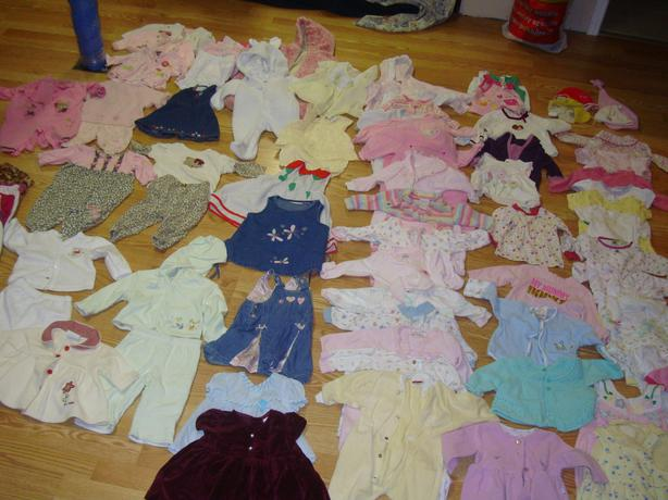 Complete Lot of 84 Piece Clothing Size 3-6 Months $108 for all!