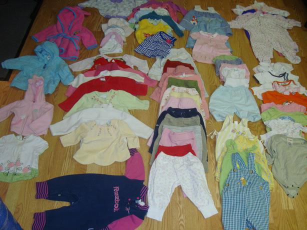 Complete Lot of 74 Piece Clothing Size 6-12 Months $95 for all!