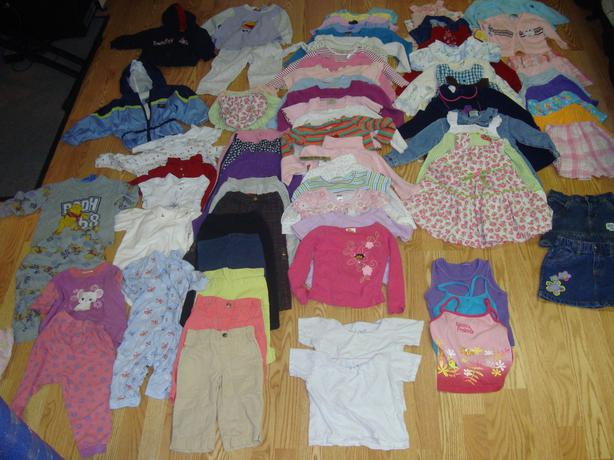 Complete Lot of 77 Piece Clothing Size 24 Month 2 Year (B) $98 for all