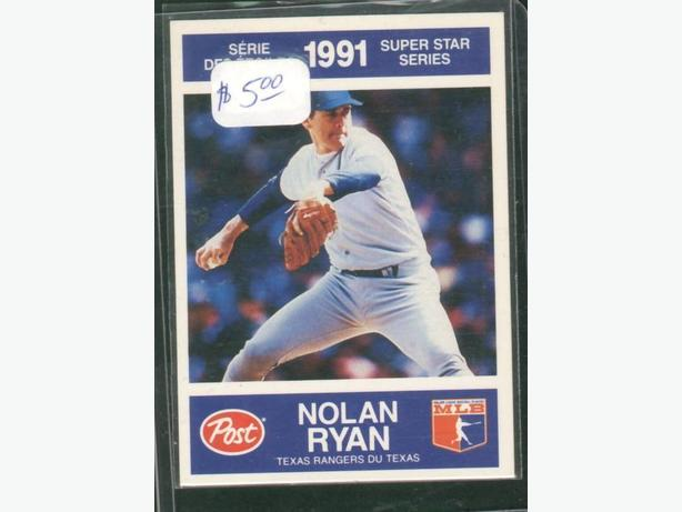 Post Cereals Super Star Series 1991 #27 Nolan Ryan