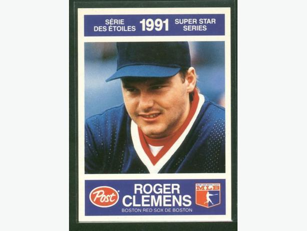 Post Cereals Super Star Series 1991 #18 Roger Clemens Boston Red Sox