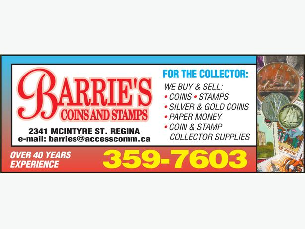 Looking To Buy Or Sell Barrie's Coins & Stamps Over 40 Years Experience!