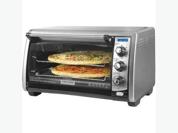... ? Black & Decker Stainless Steel Countertop Convection Toaster Oven