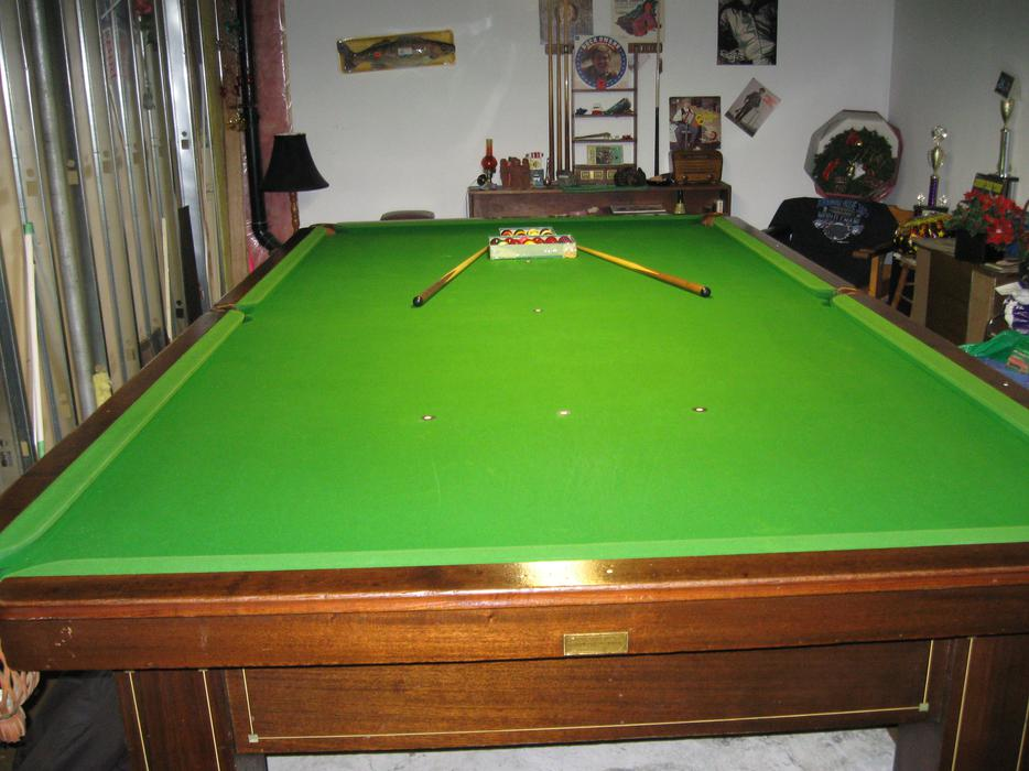Antique 6 39 x12 39 brunswick slate billiards pool table for Pool table 6 x 3