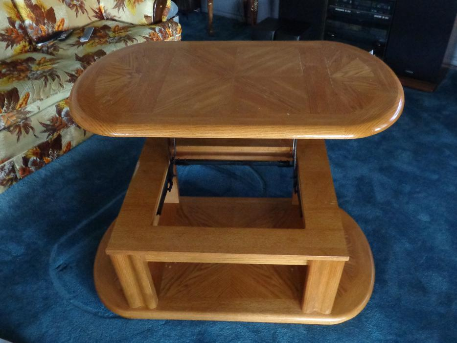 Coffee Table With Raising Top Duncan Cowichan