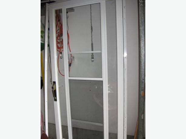 White Exterior Screen Glass Door Saanich Victoria