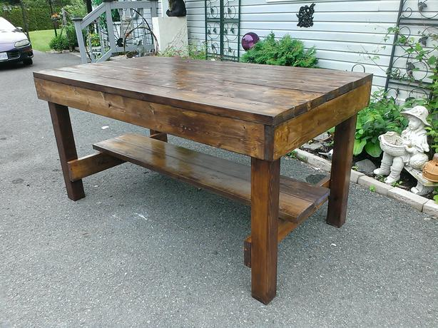 new rustic country kitchen island very sturdy