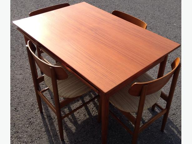 Mid century Farstrup teak dining table with 4 chairs  : 39910200614 from www.usedottawa.com size 614 x 461 jpeg 49kB