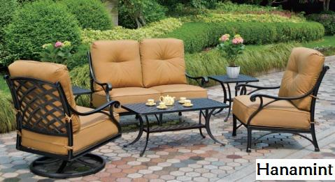 Cast aluminum patio furniture with an elegant style for Outdoor furniture kelowna