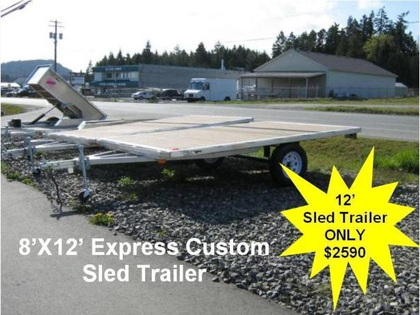 8'X12' Express Custom SLED TRAILER