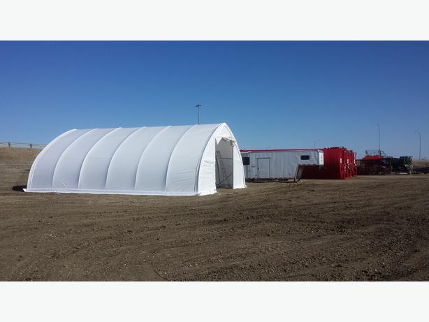 Hay Storage Shelters : Hay storage portable buildings cow shelters kelowna okanagan