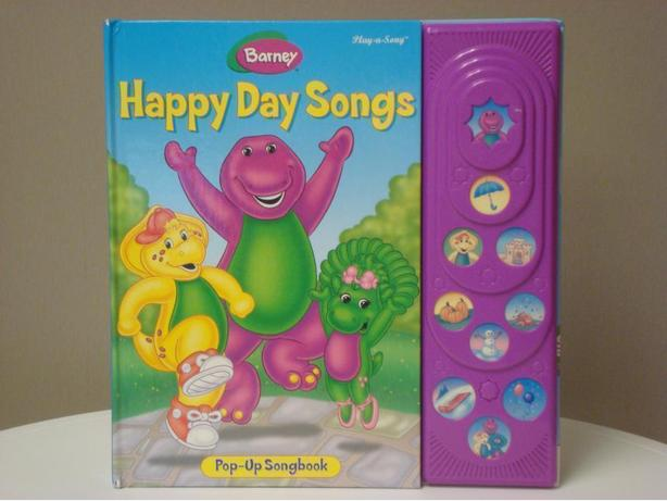 Barney's Happy Day Pop-Up Song Book (Hardcover)