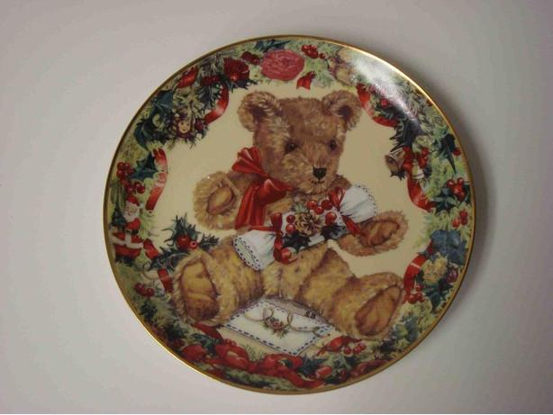 "Teddy's First Christmas 8"" Plate (plate # M1769)"
