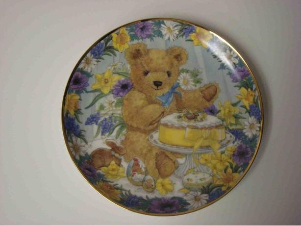 "Teddy's Easter Treat 8"" Plate (plate # U8487)"