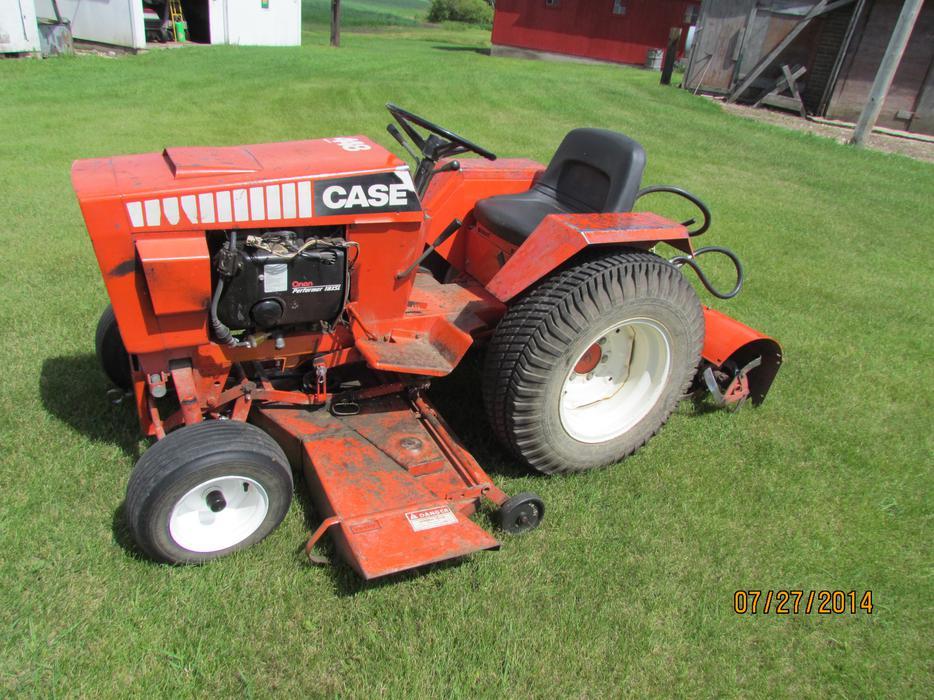 1982 Case Tractors : Reduced case garden tractor north regina