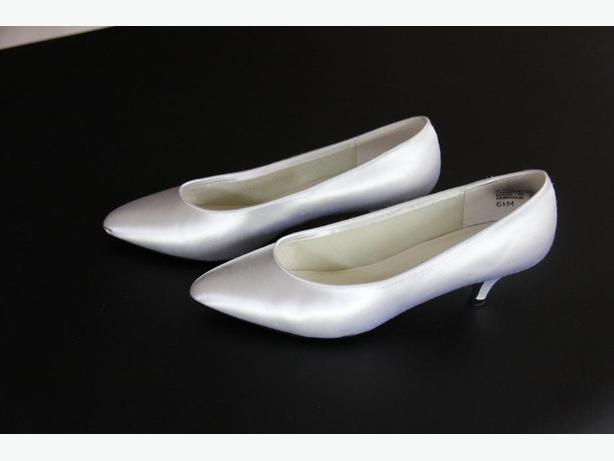 White Satin Shoes