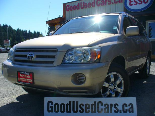 2004 toyota highlander leather near new front and rear brakes outside nanaimo nanaimo mobile. Black Bedroom Furniture Sets. Home Design Ideas