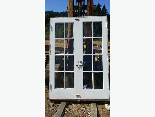 Exterior double french door with screens 56 x 83h malahat including shawnigan lake mill bay - Double french doors with screens ...