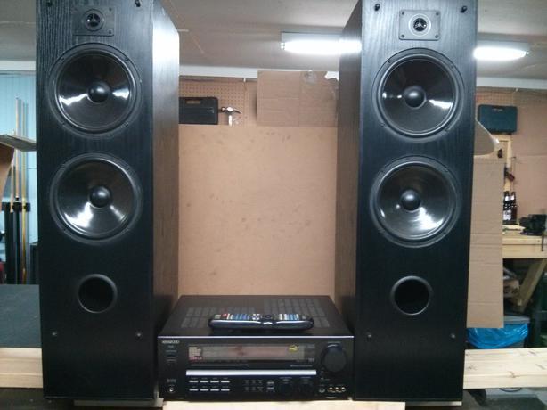 kenwood floor standing speakers. kenwood vr-6060 home theater receiver and jbl speakers floor standing t