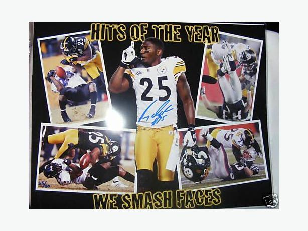 RYAN CLARK STEELERS AUTOGRAPHED HITS OF THE YEAR 16x20