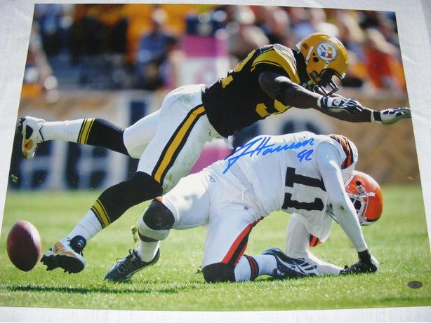 Signed James Harrison Steelers SI cover Photo hit