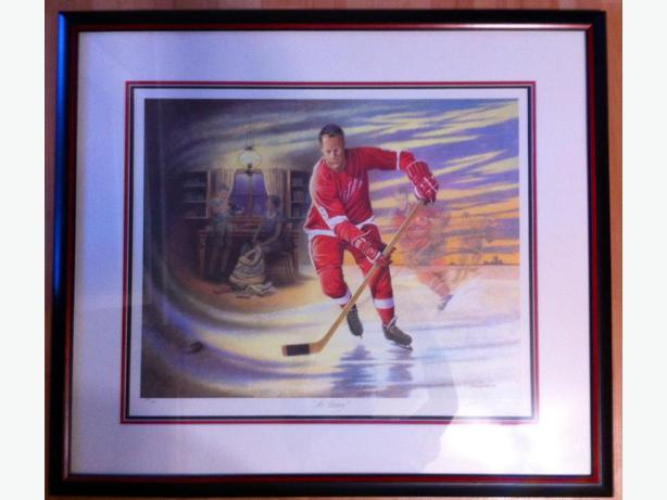JAMES LUMBERS MR. HOCKEY Limited Edition Framed Print