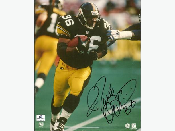 Jerome Bettis Signed Pittsburgh Steelers 8x10