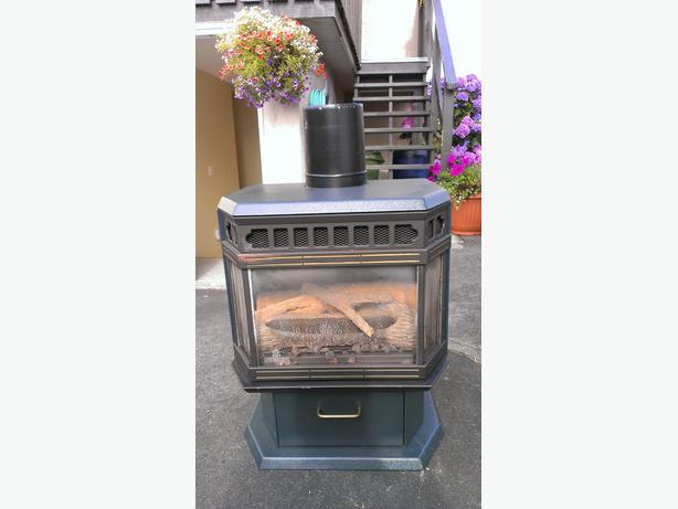 Osburn Gas Fireplace with chimney North Saanich & Sidney , Victoria