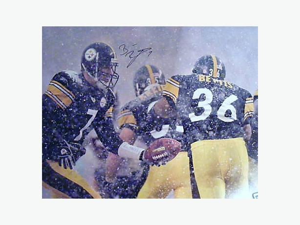 BEN ROETHLISBERGER SIGNED 16x20 STEELERS