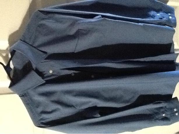 Blue button down dress shirt 16/18