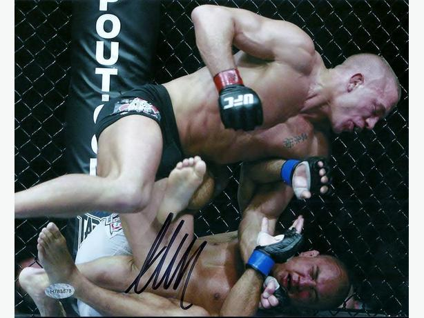 Georges St-Pierre - GSP Signed 8x10 Over B.J. Penn