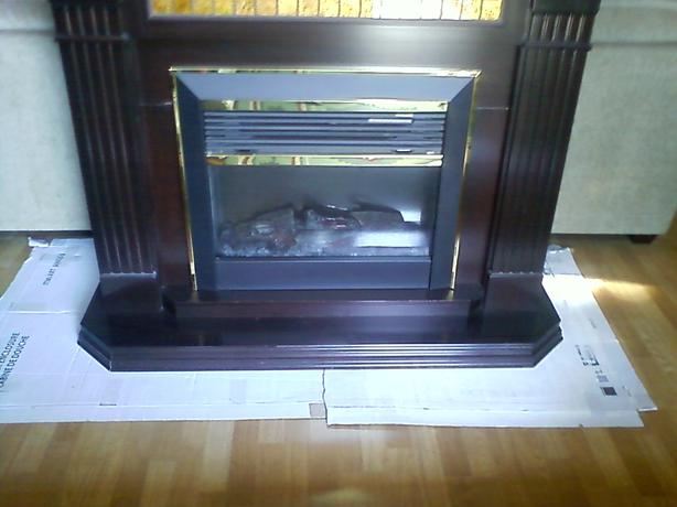 Standalone fireplace heater saanich victoria for Fireplace heater system