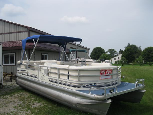 1999 riviera cruiser 22 pontoon boat w 50hp johnson beautiful boat kitchener guelph