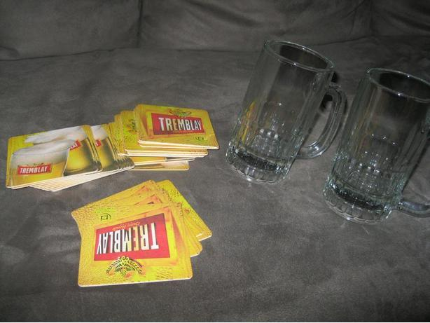 22 -  1/2 Pint Beer Glasses with Coasters (ALL for ONLY $20)